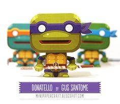 Mini Papercraft - TMNT Donatello by Gus Santome