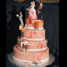 One of the best wedding cakes ever! Seriously, seriously epic!