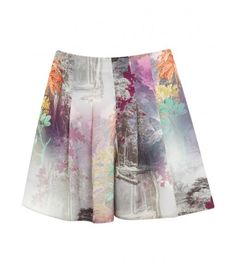 House of Fraser - Miss Selfridge Digital printed skort, Multi-Coloured
