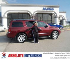 #HappyAnniversary to Rhetta Jones on your 2010 #Nissan #Armada from John Daly IV at Absolute Mitsubishi!