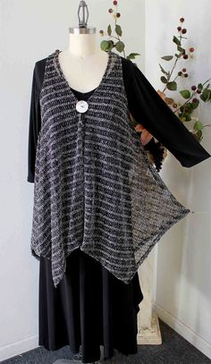 Elegant High end Plus size Lagenlook Poncho in by Dare2bStylish, $40.00