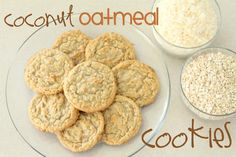 Coconut Oatmeal Cookies- the hubby's favorite. YUMMY! #cookies