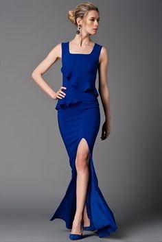 Saks Abiye Elbise Mlwss156974 Elbise Mavi Tarz Moda Stilleri