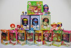 Strawberry Shortcake dolls from the 80's. They were scented to match their names.  Years later I found them in a storage tub and they still smelled the same!!!!
