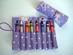 Crayon Roll Purple Princess Ballerina with by adorableblessings, $5.00