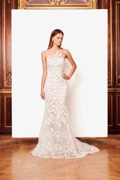 340 best One Shoulder Strap Wedding Dress Inspiration images on ...