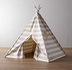 Awning Stripe Canvas Play Tent | Tents | Restoration Hardware Baby & Child, could be in a color