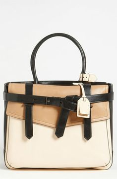 """Reed Krakoff 'Boxer 1"""" Tricolor Satchel...I will own you one day! $1290"""
