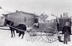 First Wave of Ukrainian Immigration to Canada, Milk delivery in Winnipeg, MB in Vintage Pictures, Old Pictures, Immigration Canada, Fur Trade, Canadian History, One Wave, Our Town, Hudson Bay, Ukraine