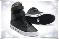 Negro/Blanco Supra TK Society High Tops Leather outlet zapatos online