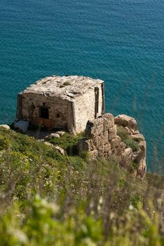Byzantine fortress at Skyros Town, Skyros, Greece.