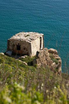 Byzantine fortress at Skyros Town, Skyros, Greece.