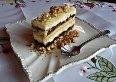 Zserbo kremmel Desert Recipes, Nutella, Baked Goods, Tiramisu, Food And Drink, Cooking Recipes, Pie, Sweets, Snacks