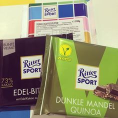 Dairy free & Vegan chocolate @rittersport - not only that we made chocolates for the kiddies  #rittersport #chocolates #makingchocolate #vegan #veganchocolate #berlin #travel #citybreak