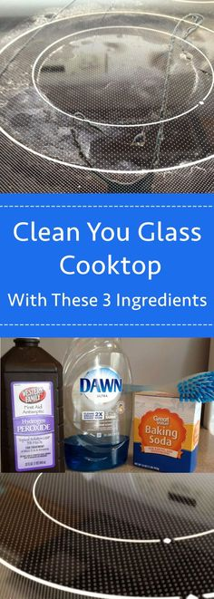 Deep clean your glass cooktop with 3 ingredients that you already have at your house - all it takes is a bit of baking soda, dawn dish soap, and hydrogen peroxide. Here's how to remove those pesky burn marks. This easy DIY solution really cleanses your stovetop to make it sparkling clean. Follow these tips and tricks for the best clean you've had in a long time!#diy#cleaning#cleaningtips#cleaningtricks#cleaninghacks#bakingsoda#bakingsodadoesthat