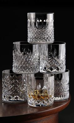 Waterford Crystal, Heritage Straight Sided Crystal Whiskey Tumbler, Set of Six Crystal Glassware, Crystal Vase, Waterford Crystal, Crystal Glass Set, Vintage Wine Glasses, Vintage Glassware, Crystal Whiskey Glasses, Bohemia Crystal, In Vino Veritas