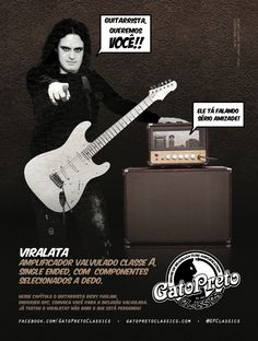 """Ad 2 - Guitar Player Magazine - Apr/13 Who: Ricky Furlani - one of the best guitarists in Brazil    Campaign: """"Inclusão Valvulada"""""""