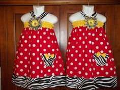 Minnie Mouse dress disney TwinS Birthday size 12 18 months 2t 3t 4t 5 6 applique red zebra outfit  bow halter party big girl Two Dresses. $85.50, via Etsy.