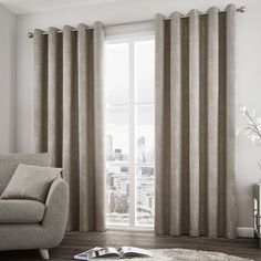 Solent Made Curtains in Stone|Terrys Fabrics UK