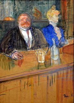 art-centric:  Henri de Toulouse-Lautrec - Bar, 1898