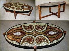 Handmade mosaic design art deco coffe table Coffe Table, Mosaic Designs, Techno, Design Art, Furniture Design, Art Deco, Wall Art, Rugs, Handmade