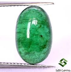 Certified Natural Emerald Oval Cabochon 11x7 mm 2.28 CTS Lustrous Untreated Loose Gemstone Semi Precious Gemstones, Loose Gemstones, Emerald Gemstone, Natural Emerald, Jewelry Sets, Nature, Naturaleza, Off Grid, Natural