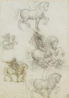 Studies for an equestrian monument Leonardo da Vinci (Vinci 1452-Amboise 1519)   #TuscanyAgriturismoGiratola