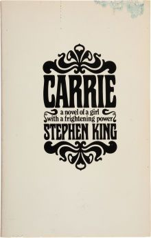 Stephen King. Carrie 1974
