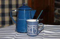 Cafeteira de esmalte Enamelware coffee pot