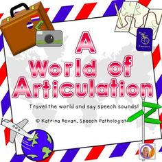 Practice articulation while you pack your suitcase and get ready to travel the world! This fun and entertaining game is designed to help students with speech sounds s, s blends, l, l blends, r, r blends, sh, ch, k, g & NOW with f!Students can work at word, phrase or sentence level within the game depending on their skills.