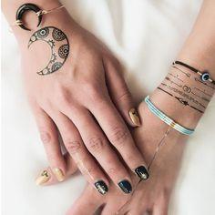 www.ethnikk-tattoo.com sur Instagram: À décliner à l'infini ! Les 40 tattoos qui composent le carnet Ayasha permettent des associations délicates et harmonieuses avec des bracelets et joncs de toutes les couleurs. #ootd #bijou #bijoux #jewelry #jewellery #mode #accessories #accessory #bracelets #bracelet #Tags #armcandy #armswag #wristgame #pretty #love #beautiful #braceletstacks #trendy #instagood #fashion #braceletsoftheday #fashionlovers #fashionista #wristwear