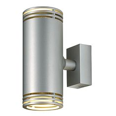 Barro Up-Down Silver Grey Wall Light Fitting
