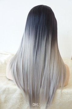 April Lace Wigs 2015 New Brazilian Ombre Grey Human Hair Wig With Dark Roots Straight Ombre Hair Wig Grey Ombre Full Lace Human Hair Wigs Blonde Full Lace Wig From Angelbabyhair, $112.05| Dhgate.Com