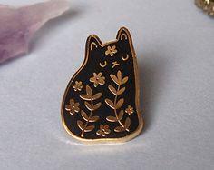 Enamel cat lapel pin Cat pin Enamel pin Enamel от ilikeCATSshop