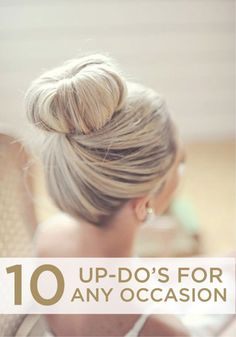 Updos are perfect for so many occasions – check out these stunning styles.