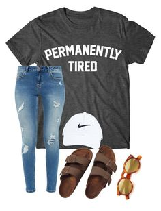 """Please rtd"" by kkkathy ❤ liked on Polyvore featuring Illesteva, Ted Baker, NIKE and Birkenstock"