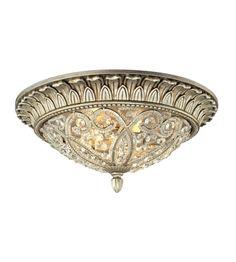 ELK Lighting Andalusia 2 Light Flush Mount in Aged Silver 11693/2 #lightingnewyork #lny #lighting