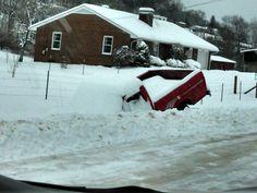 In Rogersville, TN.  Feb. 2015 snow storm.  Photo by:  Tammy Griffey.