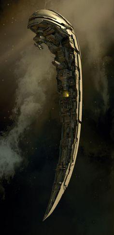 scifi-fantasy-horror: Space Station by Benini