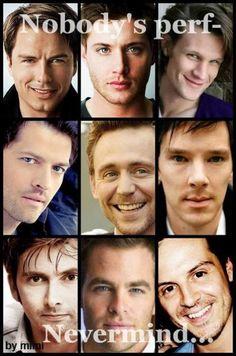 Okay maybe some. Perfect. David Tennant, Benedict Cumberbatch, Matt Smith, Tom Hiddleston, Andrew Scott and more
