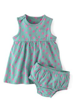 Mini Boden Essential Spotty Jersey Dress (Baby Girls) | Nordstrom