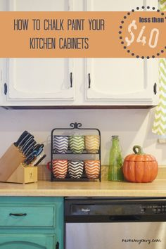 With 4 cups of paint and a few supplies you can transform your kitchen. How to chalk paint your kitchen cabinets!