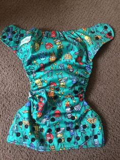 Awesome Blossom Cloth Diaper All In One AIO Robot Pocket 1 Insert Adjustable #AwesomeBlossom