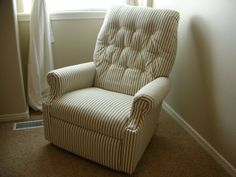 DIY re-upholster and old lazy-boy recliner