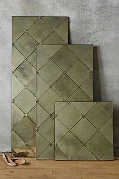 Insert For Kitchen Island Silvered Tile Mirror #anthropologie