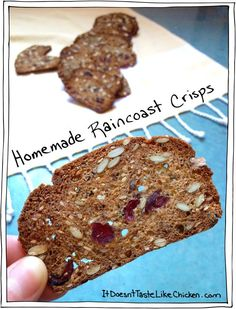 Homemade Raincoast Crisps! Those super addictive expensive crackers you see at all the snack tables these days, but this recipe took it up a notch. These are wholegrain, vegan, easy to make, inexpensive, and just darn tasty! #itdoesnttastelikechicken