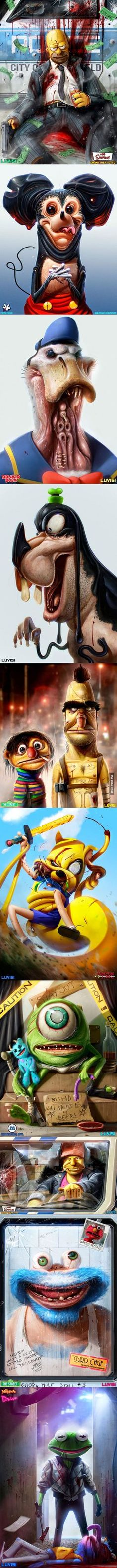 Childhood Characters as Criminals... Some nice, good trauma for the rest of your adult life.