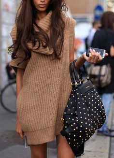 Fall 2015 knit trend the sweater dress