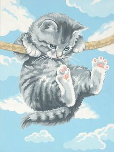 Dimensions Crafts Paintworks Paint By Number, Hang On Kitty by Dimensions, http://www.amazon.ca/dp/B0006FUH5C/ref=cm_sw_r_pi_dp_F9Cotb04XZC31