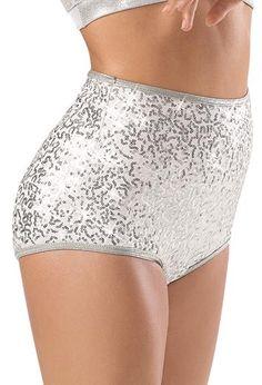 Sequin High Waist Brief Shorts; Balera